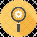 Cogwheel Explore Magnifier Icon