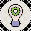 Cogwheel Bulb Gear Icon
