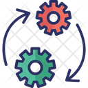 Cogwheel Around Automated Solutions Automation Icon