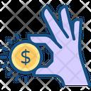 Coin Dollar Coin Hand Icon