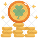 Coin Gold Saint Patricks Day Icon