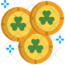 Coin St Patrick Day Gold Icon