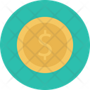Dollar Coin Currency Icon