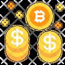 Coin Bitcoin Stack Icon