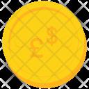 Coin Gold Pound Icon