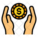 Coin Money Hands Icon