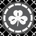 Coin Leaf Clover Icon