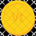 Coin Gold Vanuatu Icon