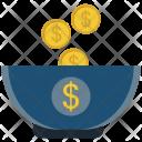 Coin Cup Dollar Icon
