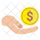 Coin Work Hand Icon