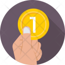 Coin Give Donation Icon
