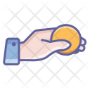 Coin Finger Hand Icon