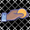 Coin Money Finger Icon