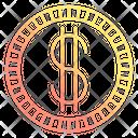 Coin Dollar Cash Icon