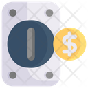 Coin Accepting Machine Icon