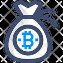 Coin Bag Bitcoin Bag Bitcoin Sack Icon