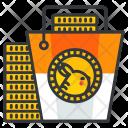 Coin Bucket Icon