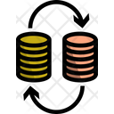 Coin Exchange Coin Stack Business Icon