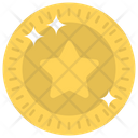 Coin Game Star Coin Winning Coin Icon