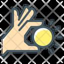 Coin Hand Money Icon