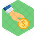Coin In Hand Icon