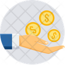 Hand Coin Gesture Icon