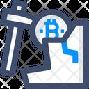 Coin Mining Bitcoin Mining Bitcoin Digging Icon