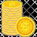 Coin Stack Coin Dollar Icon