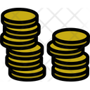 Coin Stack Coin Letter Icon