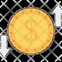 Transfer Exchange Dollar Icon