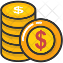 Coins Pile Money Icon