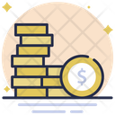 Coins Dollar Coins Currency Coins Icon