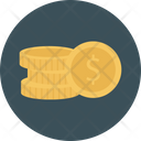 Dollar Coins Currency Icon