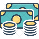 Coins Dollar Legal Tender Icon