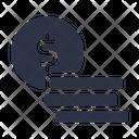 Dollar Coins Money Icon
