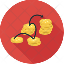 Coins Linked Money Icon