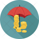 Coins Umbrella Financial Icon