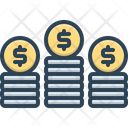 Coins Stack Pile Icon