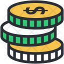 Coins Cash Stack Icon