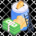 Money Accumulation Money Box Money Savings Icon