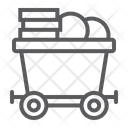 Coins Mine Trolley Icon