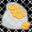 Coins Sack Savings Currency Sack Icon