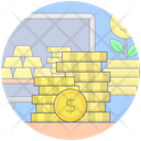 Coins Stack Dollar Coins Dollar Heaps Icon