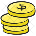 Coins Stack Savings Capital Icon