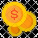 Coins Stack Dollar Coins Money Icon