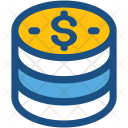 Coins Stack Dollar Icon