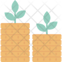 Coins With Money Plant Icon