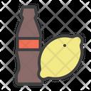 Coke Lemon Drink Icon