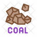 Coal Particles Mining Icon