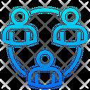 Business Collaboration Teamwork Partnership Icon